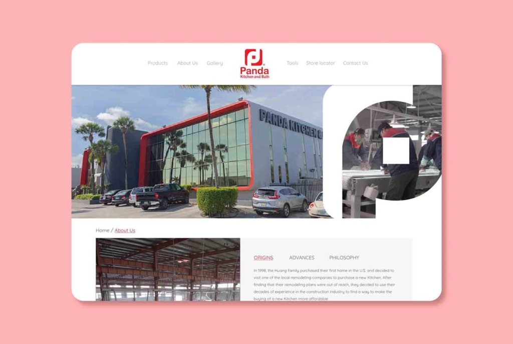 Panda Kitchen & Bath. Web design