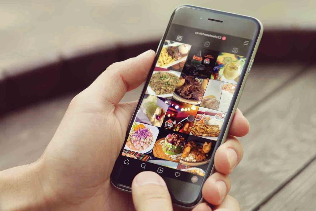 Ceviche del Cielo. Social media content